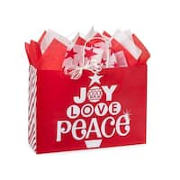 "Pack of 25, Vogue Peppermint Holiday Bags 16 X 6 X 12"" For Christmas Packaging, 100% Recyclable, Made In Usa"
