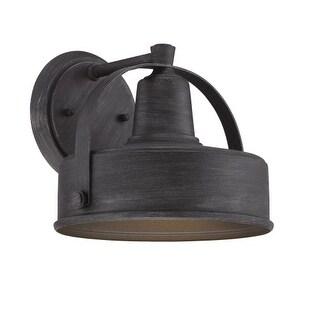 "Designers Fountain 33121 Portland-DS 7"" Width 1 Light Dark Sky Outdoor Lantern Wall Sconce"