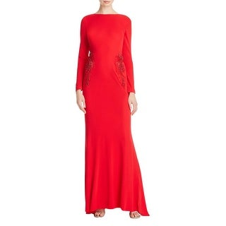 Badgley Mischka Womens Evening Dress Jersey Embellished