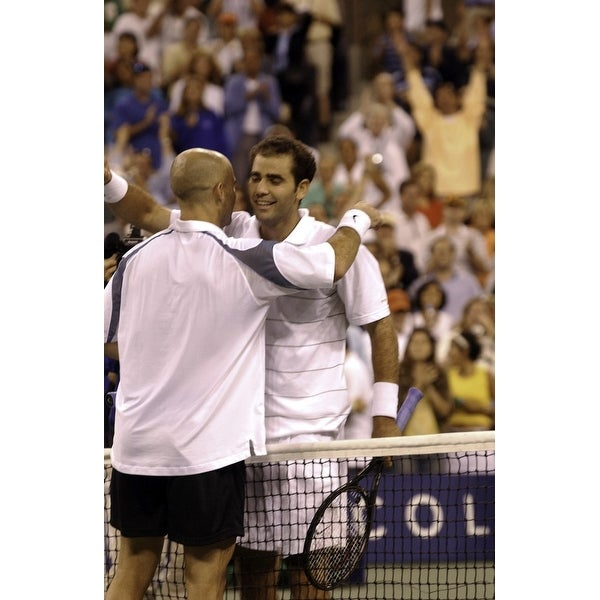 d55eb839b1b1 Shop Andre Agassi and Pete Sampras hugging at the US Open Photo Print -  Free Shipping On Orders Over  45 - Overstock - 25396827