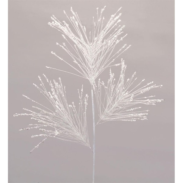 Club Pack of 12 Winter Frosted White Decorative Long Needle Pine Spray 30""