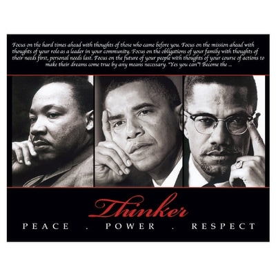 ''Thinker (Trio): Peace, Power, Respect'' by Anon African American Art Print (8 x 10 in.)