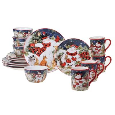 Certified International Magic Of Christmas Snowman 16-piece Dinnerware Set, Service for 4