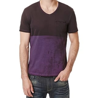 Buffalo David Bitton NEW Purple Mens 2XL V-Neck Colorblocked T-Shirt|https://ak1.ostkcdn.com/images/products/is/images/direct/1448aba76740938aaa2bf761e460e335a30d7cc8/Buffalo-David-Bitton-NEW-Purple-Mens-2XL-V-Neck-Colorblocked-T-Shirt.jpg?impolicy=medium