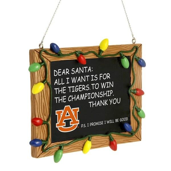 NCAA Auburn Tigers Resin Chalkboard Sign Ornament