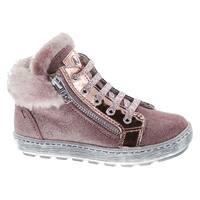Naturino Girls 5221 Fashion Fur Trim Lined Lace Up Booties