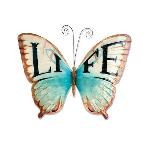 Handmade Wall Butterfly with Life (Philippines) - 1 x 18 x 13