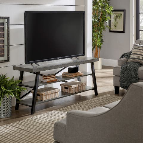 Bryson Rustic X-Base 60-inch TV Stand by iNSPIRE Q Classic
