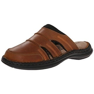 Hush Puppies Mens Relief Leather Mule Slide Sandals - 8 medium (d)