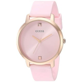 Link to Guess Woman's W1210L3 Nova Rose Gold-Tone Watch With Pink Silicone Strap - One Size Similar Items in Men's Watches