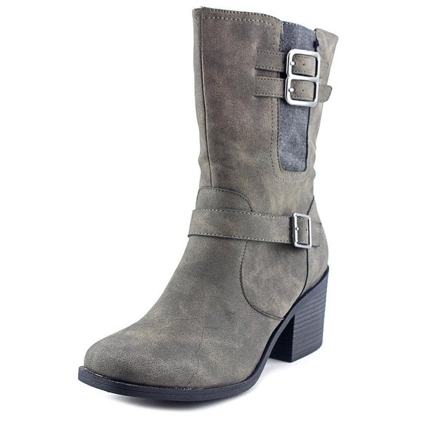 b8bb9ea3211c Shop Rocket Dog Dayton Women Round Toe Synthetic Gray Mid Calf Boot ...