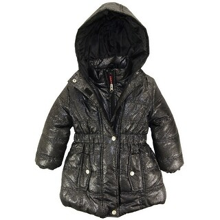 Pink Platinum Toddler Girls Solid Color Hooded Long Puffer Winter Jacket Coat 4T