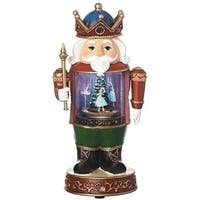 Pack of 2 Vibrantly Colored Led Nutcracker Christmas Decoration 12.25""