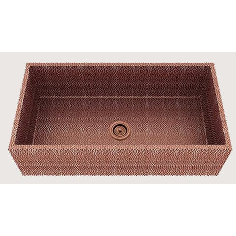 American Imaginations 36-in. W CSA Approved Rose Copper Kitchen Sink With Copper Finish And 16 Gauge - 19