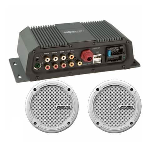 Lowrance 000-12301-001 Sonichub Marine Audio Server with 6.5 Inch Speakers