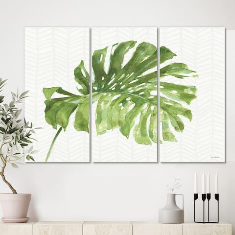 Designart 'Mixed Botanical Green Leaves V' Cottage Canvas Art