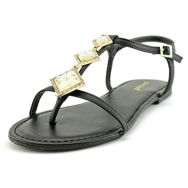 Bamboo Nadya-39 Women  Open-Toe Synthetic Black Slingback Sandal