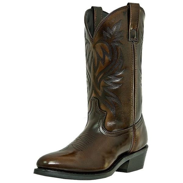 Laredo Western Boots Mens Paris Cowboy Round Toe Antique Tan