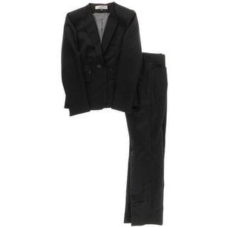 Tahari ASL Womens Petites Pauline Shadow Stripe 2PC Pant Suit