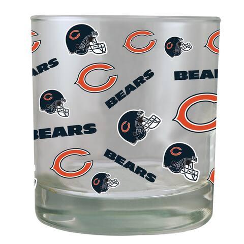 Chicago Bears All-Over Print Rocks Glass 10oz
