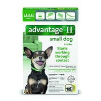 Advantage II for Dogs 3-10 Lbs. 6 Pack