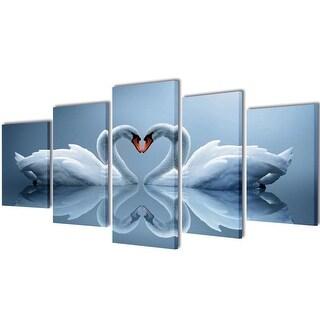 """vidaXL Canvas Wall Print Set Swan 39"""" x 20"""""""