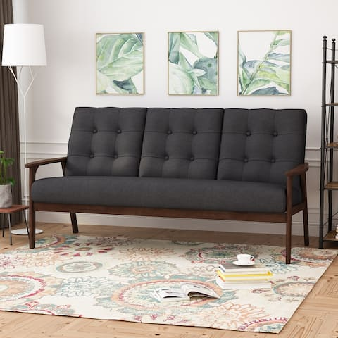 Duluth Black Tufted Accent Sofa by Christopher Knight Home