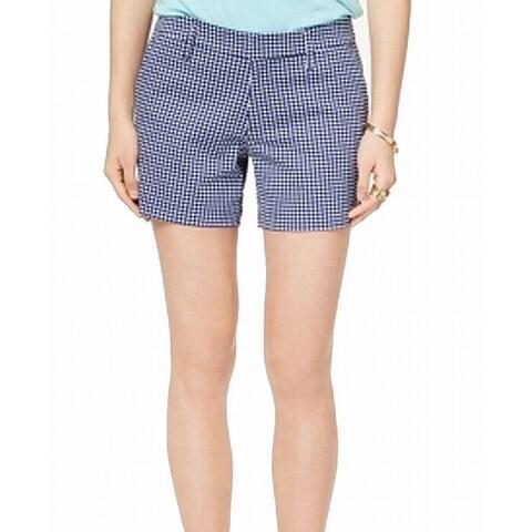 Tommy Hilfiger Blue Womens Size 16 Gingham Khaki Chino Shorts