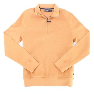 Nautica NEW Solid Beige Mens Size Medium M Pullover 1/2 Zip Sweater