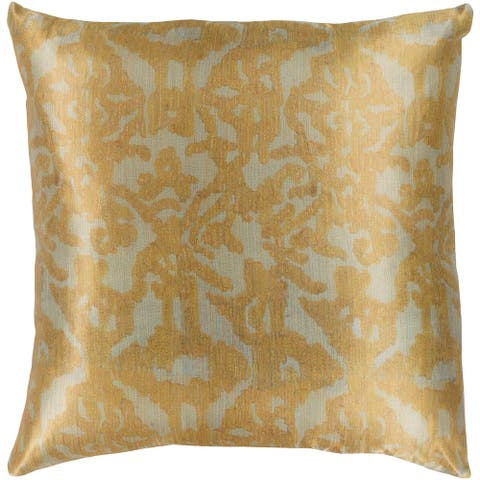 Ivona Traditional Mustard Feather Down or Poly Filled Throw Pillow 20-inch