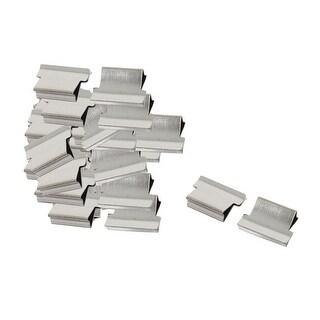 Unique Bargains Office Clam Clip Dispenser Reusable Metal Refill 40 Pcs