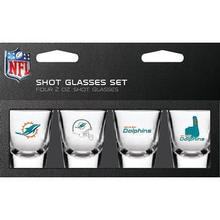 Miami Dolphins Shot Glass 2oz 4 Pack