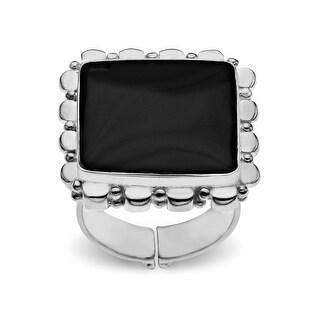 Sajen Black Shell Ring in Sterling Silver
