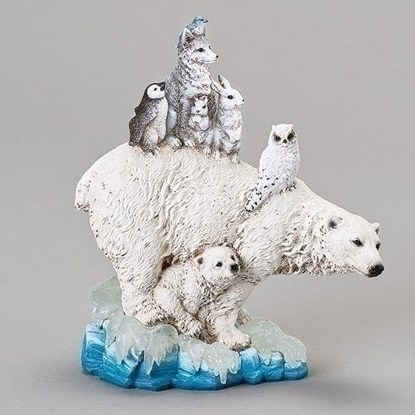 "8.75"" Polar Animal Pile Figurine Decoration - N/A"