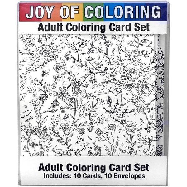 "Joy Of Coloring Adult Coloring Card Set 4""X5.5""-Nature's Wonders"