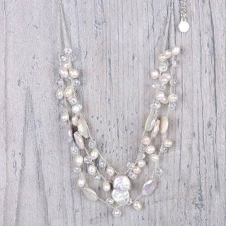 Mad Style White/Silver Maeve Necklace