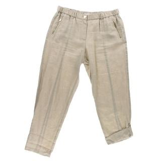 Calvin Klein Womens Casual Pants Linen Convertible
