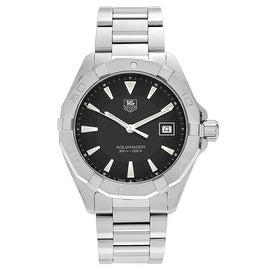 Tag Heuer Men's 'Aquaracer' WAY1110.BA0910 Stainless Steel Black Dial Bracelet Watch