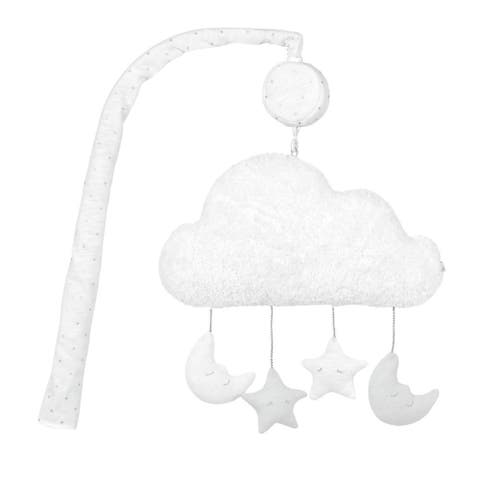 Just Born Sparkle Musical Mobile for Baby Boy or Girl Nursery Decor, Gray Stars - One Size