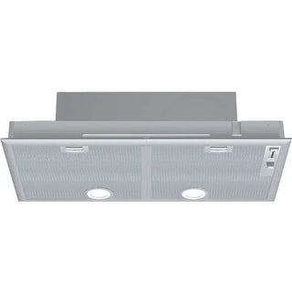 """Bosch DHL755 30"""" Glass Island Mounted Range Hood with 400CFM, 6"""" Ducting, and 2 Halogen Lights"""