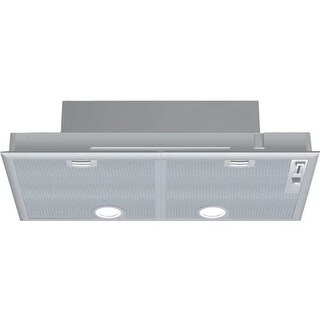Bosch DHL755B 400 CFM 29 Inch Wide Custom Insert Hood with Halogen Lights and Aluminium Mesh Filters