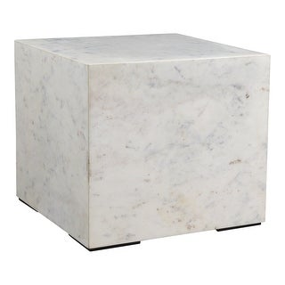 Link to Aurelle Home Natalia Modern Solid White Marble Side Table Similar Items in Living Room Furniture