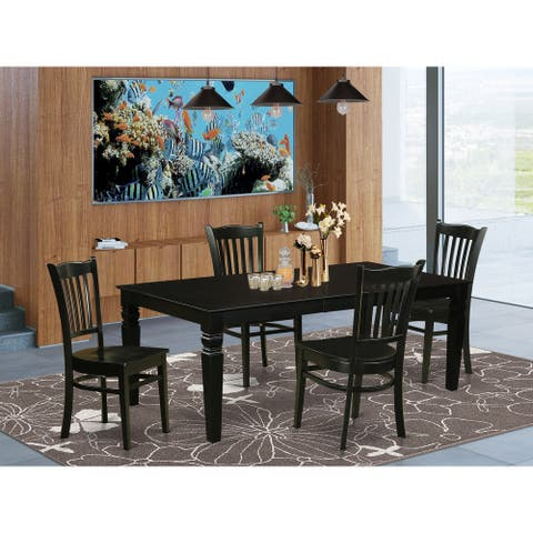 Dining Room set with a Table and 4 Kitchen Chairs (Number of Chair Option)