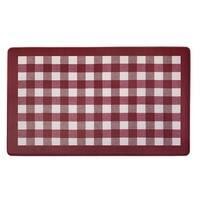 Buffalo Check Decorative Anti-Fatigue Mat, Burgundy-White, 18x30 Inches
