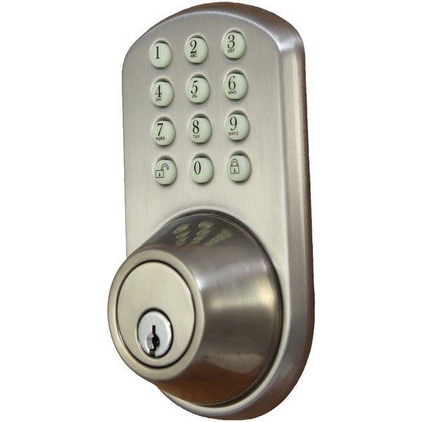 Morning Industry Inc Hf-01Sn Touchpad Electronic Dead Bolt (Satin Nickel)