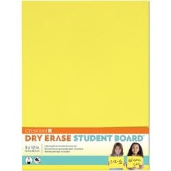 "Yellow - Student Dry Erase Board 9""X12"""