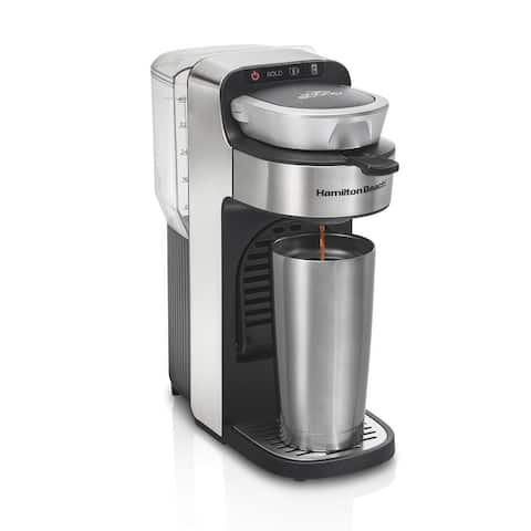 Hamilton Beach The Scoop Single-Serve Stainless Steel Coffee Maker with Removable Reservoir