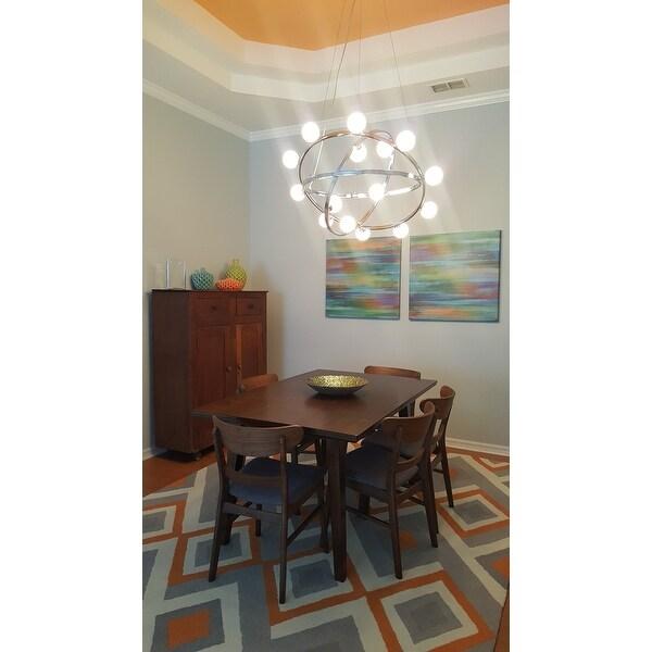 nuloom handmade geometric triangle orange rug 7u00276 x 9u00276 free shipping today