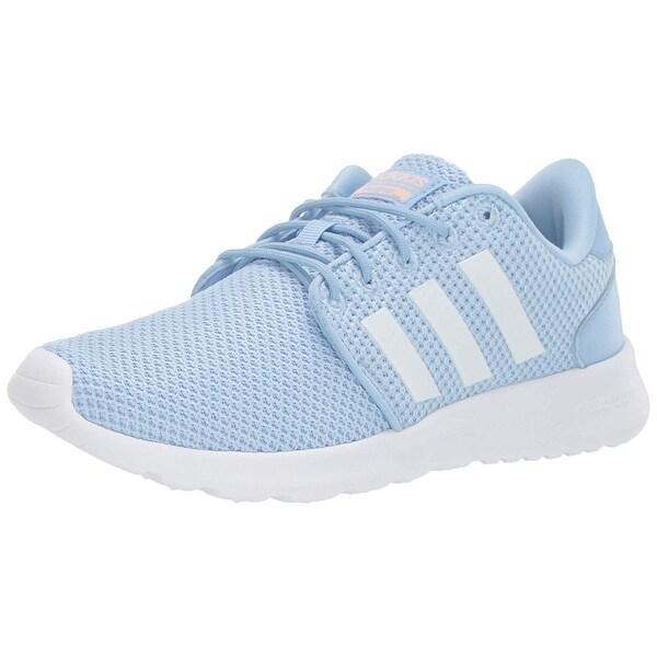 Adidas Womens Qt Racer Running Shoe, Adult, Glow Blue/White/Glow Pink