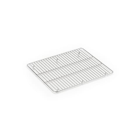 "Kohler K-6109 Kennon 17-3/4"" x 15-9/16"" Stainless Steel Basin Rack - Stainless Steel"